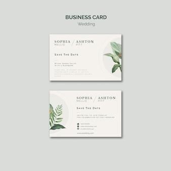 Elegante bruiloft visitekaartje sjabloon
