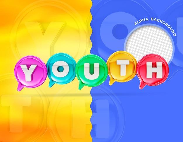 Elegante día de la juventud 3d render