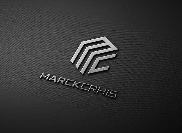 Elegante diseño de maqueta de logotipo en relieve