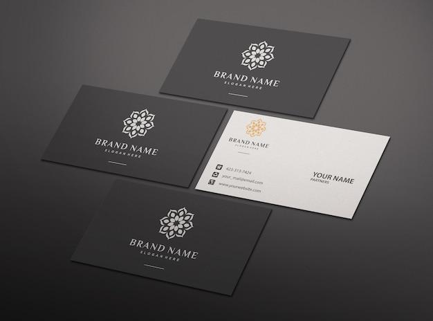 Elegante diseño de maqueta de tarjeta de visita negra