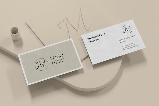 Elegante diseño de maqueta de tarjeta de visita en renderizado 3d