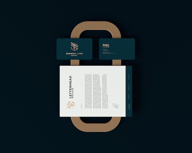 Elegante diseño de maqueta de tarjeta de visita