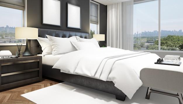 Elegante dormitorio interior