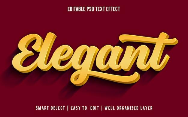 Elegante y editable estilo de efecto de texto psd