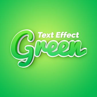 Elegante efecto de texto verde 3d
