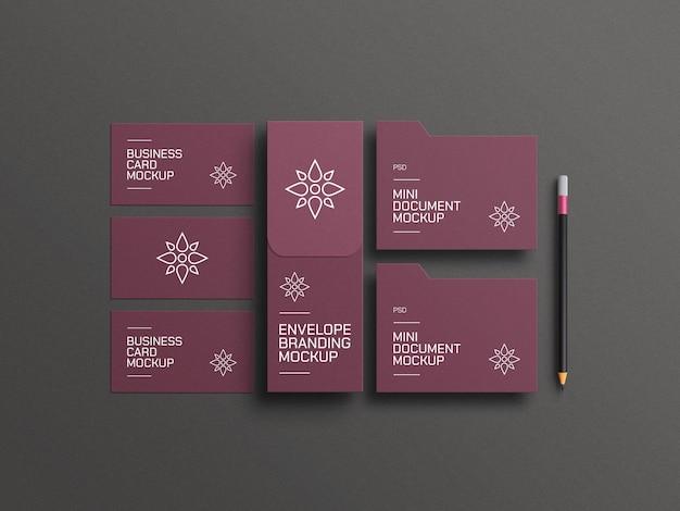 Elegante envelop met visitekaartjemodel