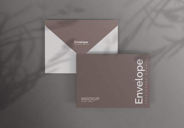 Elegante envelop mockup ontwerp