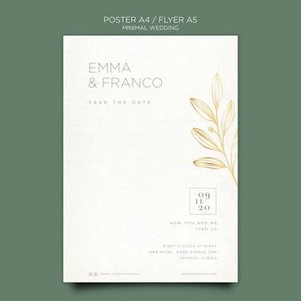 Elegante flyer-sjabloon voor bruiloft