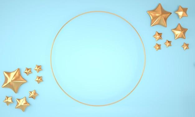 Elegante fondo abstracto con estrellas, render 3d.