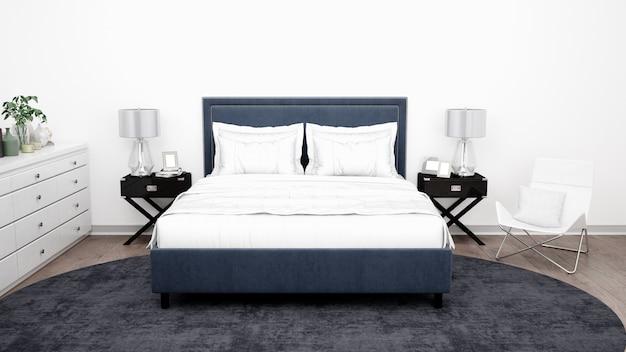 Elegante habitación o habitación de hotel con muebles clásicos.
