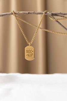 Elegante hanger sieraden mock-up arrangement