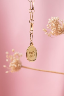 Elegante hanger sieraden mock-up assortiment