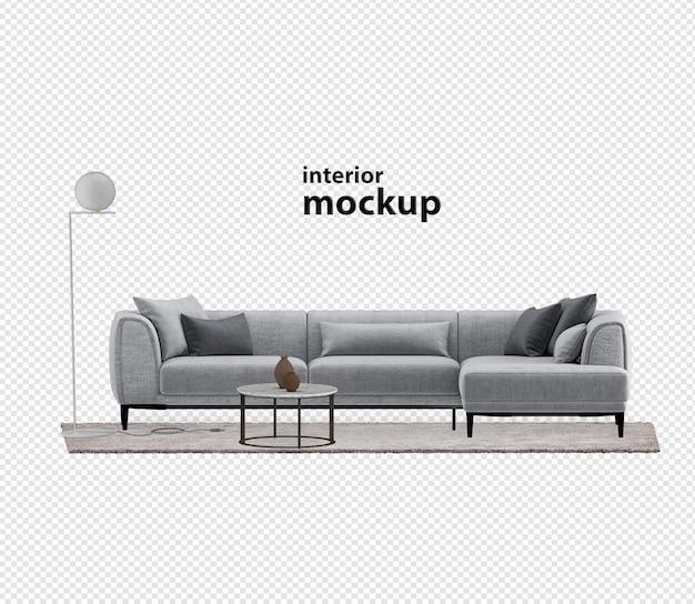 Elegante interieur mockup 3d-rendering