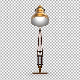 Elegante lampada da tavolo 3d