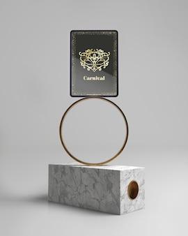 Elegante maqueta de diseño abstracto minimalista
