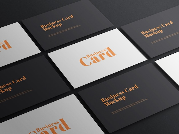 Elegante maqueta de psd de tarjeta de visita oscura