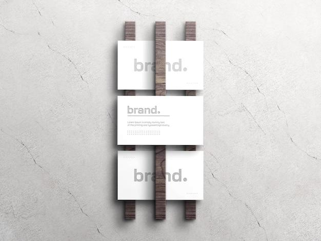 Elegante maqueta de tarjeta de visita blanca con efecto de tipografía