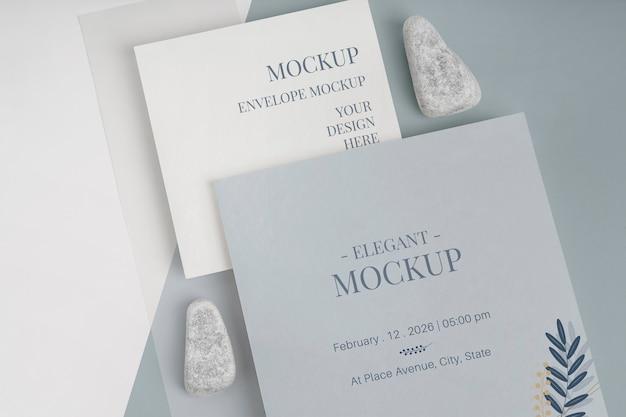 Elegante mock-up voor uitnodigingen