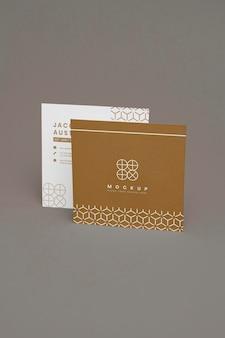 Elegante mock-up voor zakelijk visitekaartje