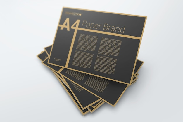 Elegante mockup di copertina in cartone