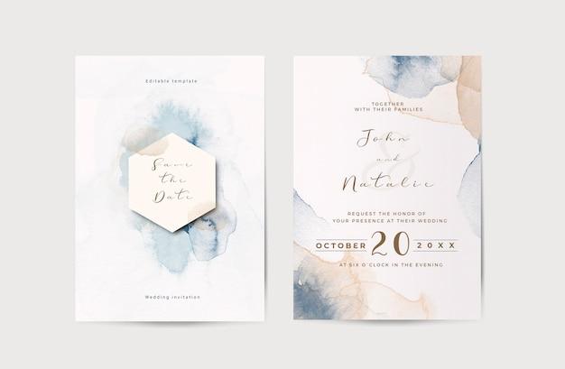Elegante modello di invito a nozze di fidanzamento