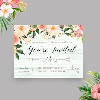 Elegante modello di invito invitato