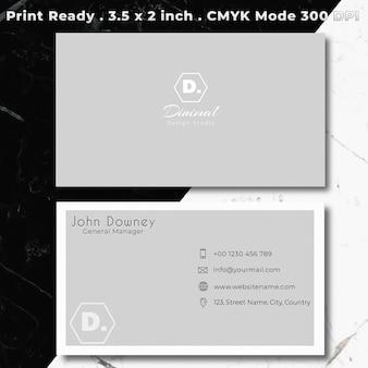Elegante plantilla gris tarjeta de visita