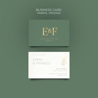 Elegante plantilla de tarjeta de visita para boda