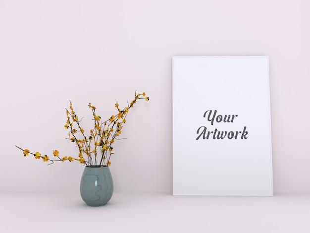 Elegante poster frame mockup