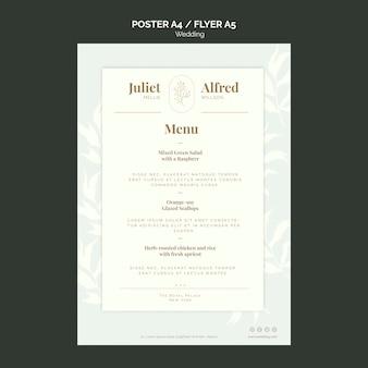 Elegante poster sjabloon voor bruiloft