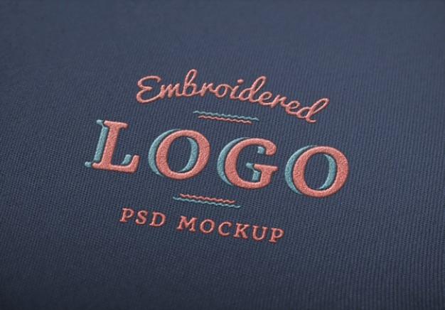 Elegante psd logo mockup