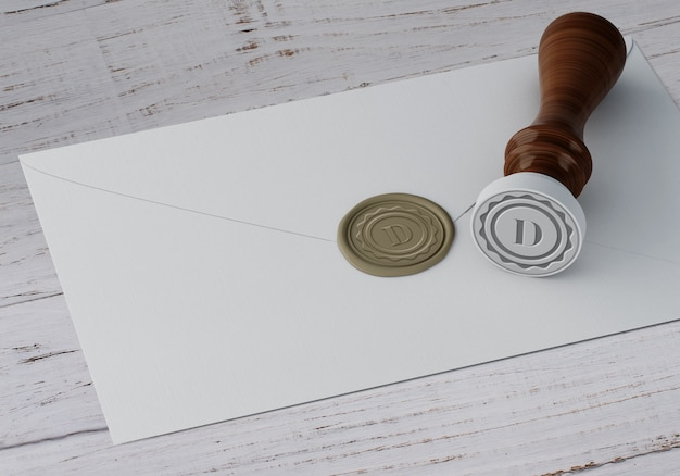 Elegante stempel of badge-mockup