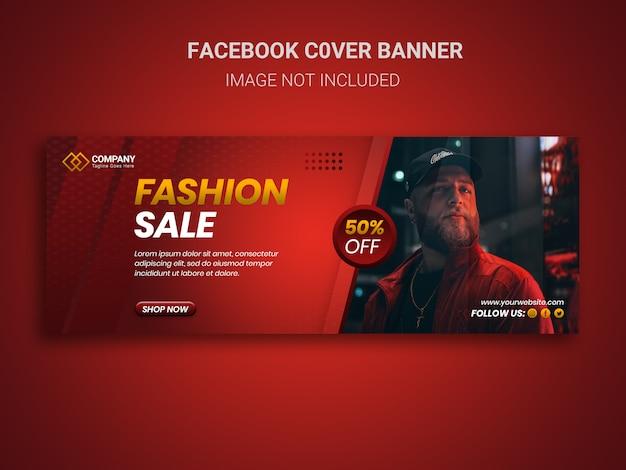Elegante vendita di moda con offerta speciale in copertina di facebook