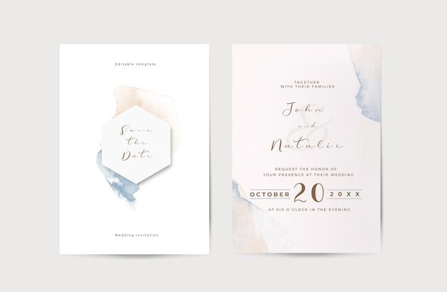 Elegante verloving bruiloft uitnodiging sjabloon