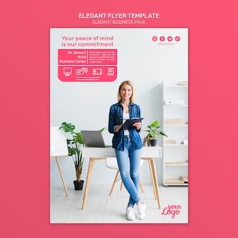 Elegante zakelijke sjabloon folder