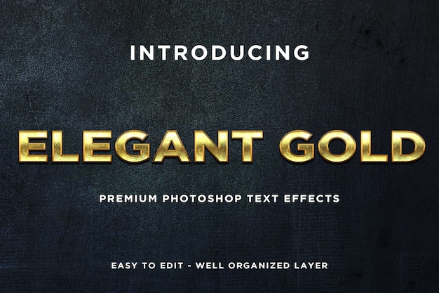 Elegantes plantillas de texto de estilo dorado
