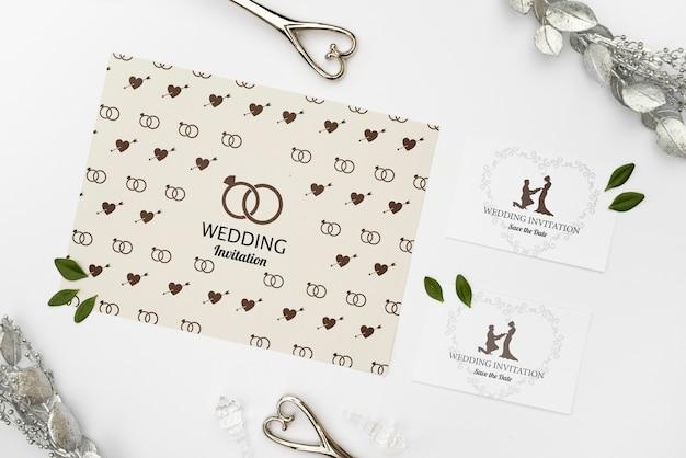 Elegantes tarjetas de invitación de boda