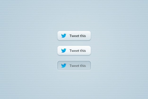 Eleganti bottoni twitter psd
