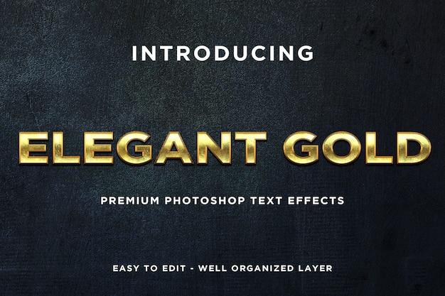 Eleganti modelli di testo in stile oro