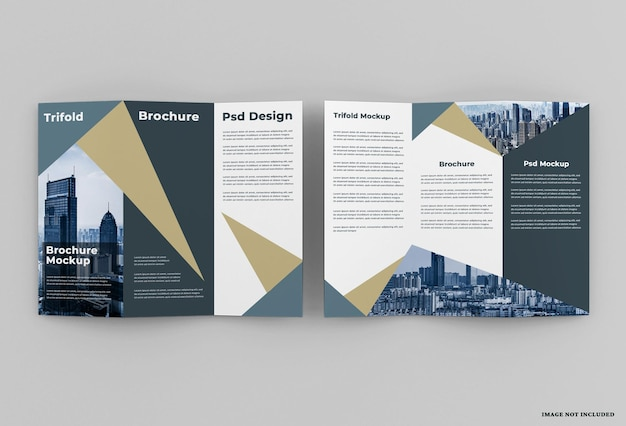 Elegantie driebladig brochuremodelontwerp