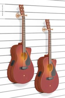 Elektro-akoestische gitaren mockup, hangend