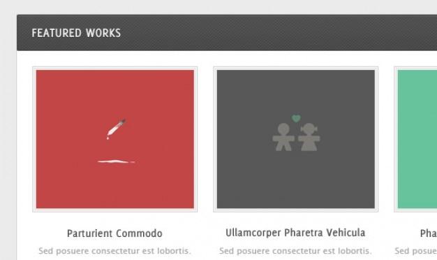 Elementi template web psd