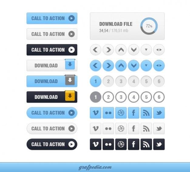 Elementos de la interfaz con el cuadro desplegable y los botones de abajo