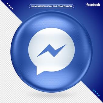 Ellips blauwe 3d messenger facebook