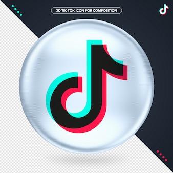 Ellips pictogram wit 3d logo tik tok