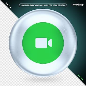 Ellipse white 3d videogesprek whatsapp