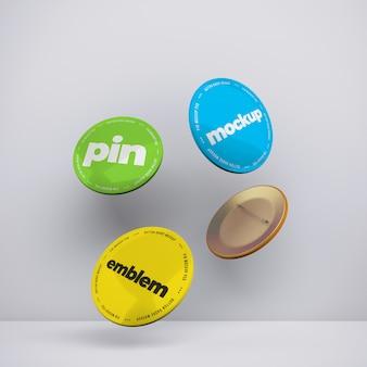 Embleem pin mockups