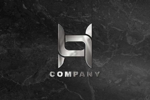Emboss logo mockup psd voor bedrijf
