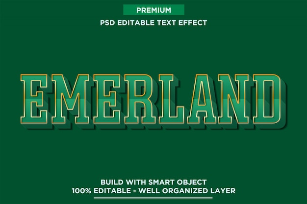 Emerland green text style font effect