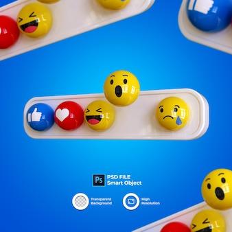 Emoji 3d establecer redes sociales aisladas